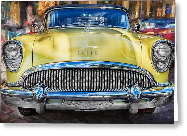Motorized Greeting Cards - 1954 Buick Skylark Convertible Painted    Greeting Card by Rich Franco
