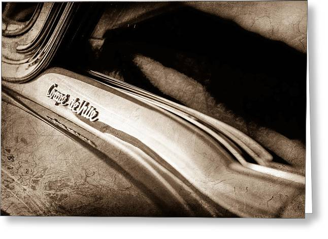1954 Cadillac Coupe Deville Emblem Greeting Card by Jill Reger