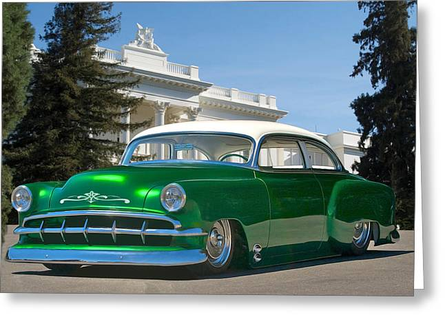 Slam Photographs Greeting Cards - 1954 Chevrolet Custom Coupe Greeting Card by Dave Koontz