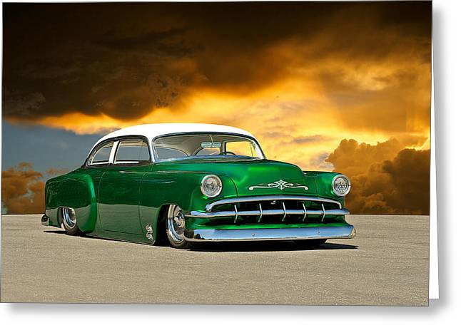 Slam Photographs Greeting Cards - 1954 Chevy Custom Coupe Greeting Card by Dave Koontz