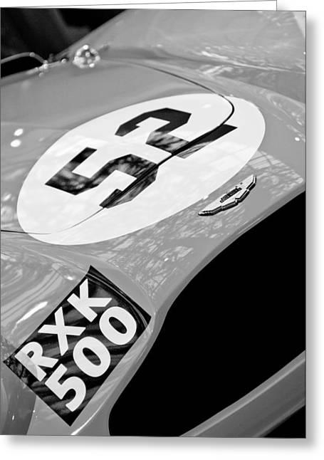 1955 Greeting Cards - 1955 Aston Martin DB3S Sports Racing Car Hood Greeting Card by Jill Reger