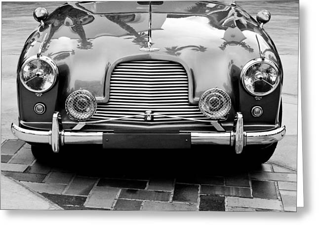 Transportation Greeting Cards - 1955 Aston Martin Greeting Card by Jill Reger