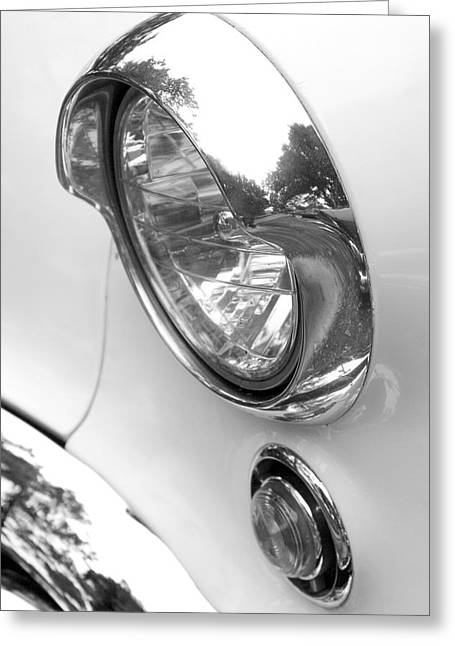 1955 Buick Greeting Cards - 1955 Buick Special Headlight Greeting Card by Brooke Roby
