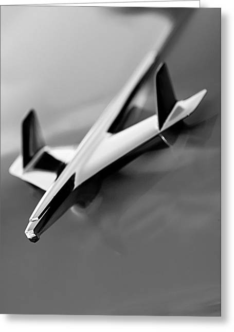 1955 Greeting Cards - 1955 Chevrolet Belair Nomad Hood Ornament Greeting Card by Jill Reger