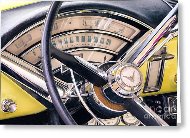 1955 Mercury Monterey Dashboard Greeting Card by Jerry Fornarotto