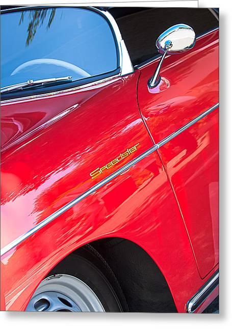 1955 Greeting Cards - 1955 Porsche 356 Speedster Greeting Card by Jill Reger