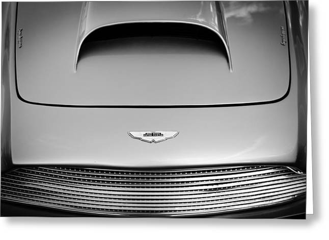 Transportation Greeting Cards - 1956 Aston Martin DB 2/4 MK I Hood Emblem Greeting Card by Jill Reger