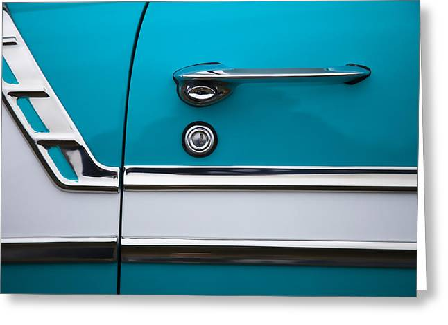 1956 Chevrolet Bel Air Greeting Card by Carol Leigh