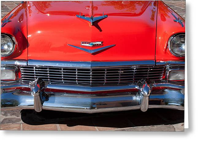 Transportation Greeting Cards - 1956 Chevrolet Belair Convertible Custom V8 Greeting Card by Jill Reger