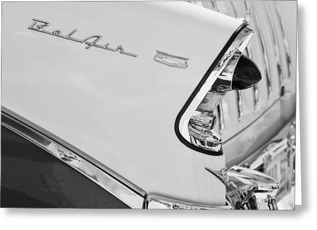 1956 Chevrolet Belair Nomad Taillight Emblem Greeting Card by Jill Reger