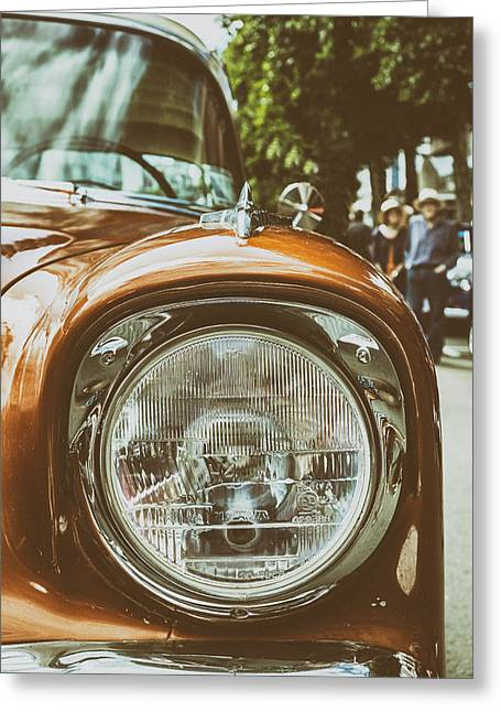 Classic Car Greeting Cards - 1956 Chevy Bel Air Greeting Card by Russ Dixon