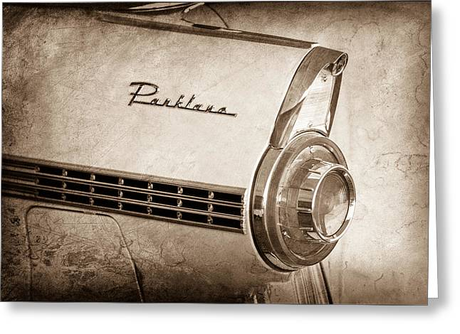 1956 Ford Parklane Wagon Taillight Emblem Greeting Card by Jill Reger