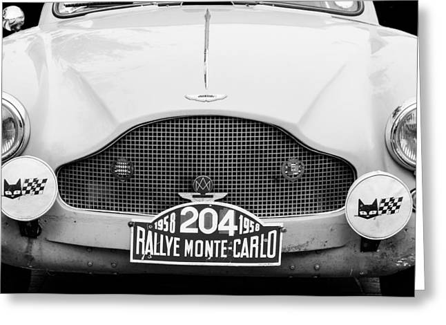 Transportation Greeting Cards - 1957 Aston Martin 2-4 MK III Prototype LGW Greeting Card by Jill Reger