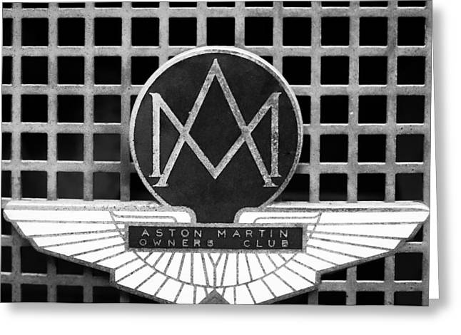 Owner Greeting Cards - 1957 Aston Martin Owners Club Emblem Greeting Card by Jill Reger