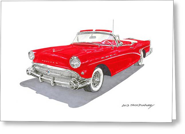 Is The Way Greeting Cards - 1957 Buick Special Convertible Greeting Card by Jack Pumphrey