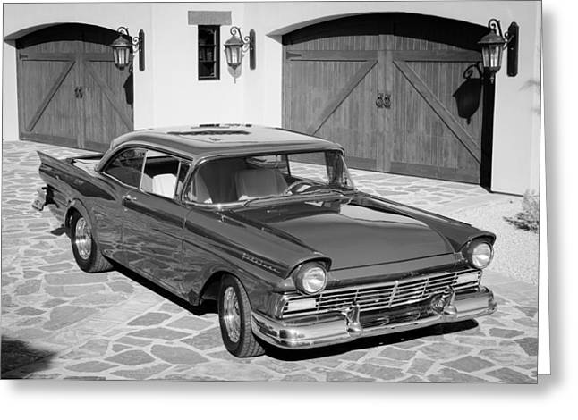 Fairlane Greeting Cards - 1957 Ford Fairlane Greeting Card by Jill Reger