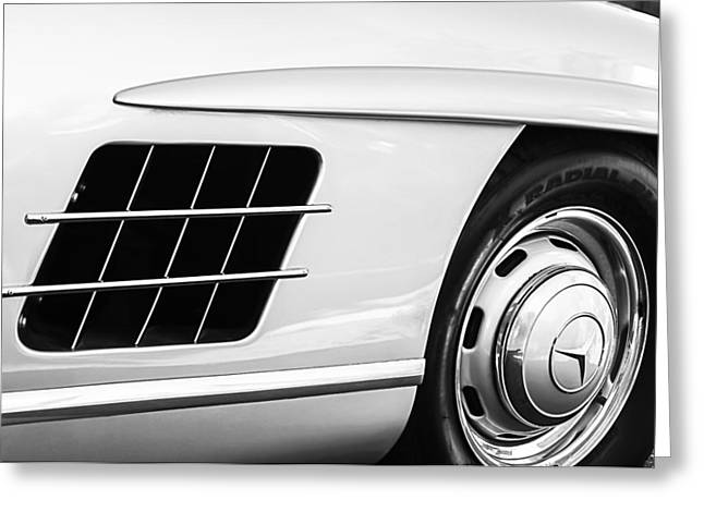 1957 Mercedes-benz 300 Sl Gullwing Wheel Emblem Greeting Card by Jill Reger