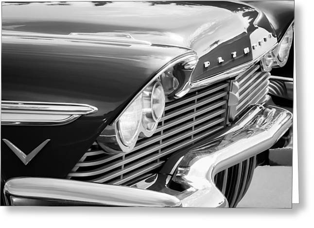 Belvedere Greeting Cards - 1957 Plymouth Belvedere Grille Greeting Card by Jill Reger