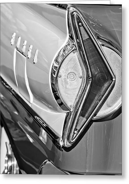Wagon Greeting Cards - 1958 Edsel Wagon Tail Light Greeting Card by Jill Reger