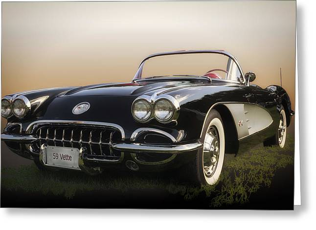 1959 Corvette Greeting Card by Larry Helms