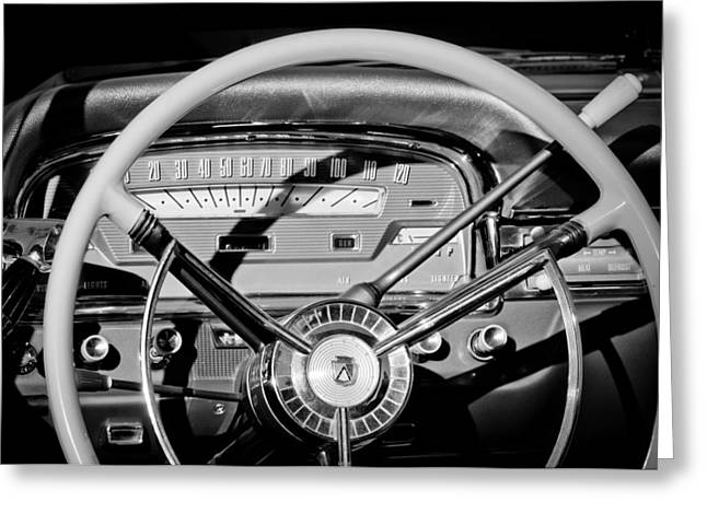 Fairlane Greeting Cards - 1959 Ford Fairlane Steering Wheel Greeting Card by Jill Reger