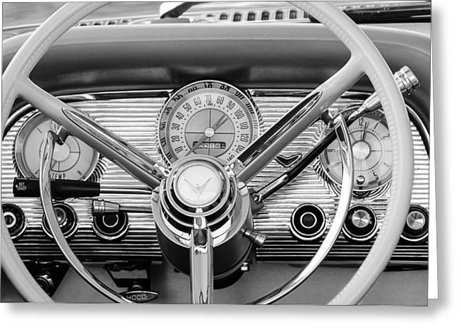 Steering Greeting Cards - 1959 Ford Thunderbird Convertible Steering Wheel Greeting Card by Jill Reger