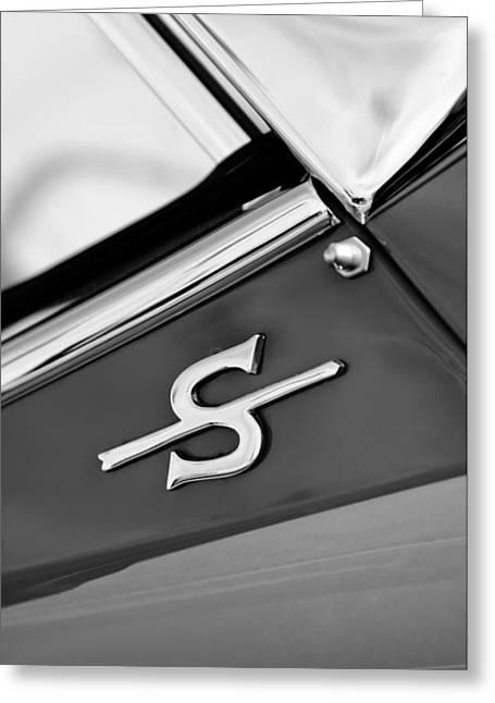 150 Greeting Cards - 1959 Jaguar XK150SOTS Emblem Greeting Card by Jill Reger