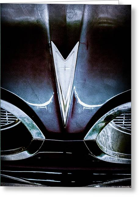 Bonneville Pictures Greeting Cards - 1959 Pontiac Bonneville Convertible Emblem Greeting Card by Jill Reger