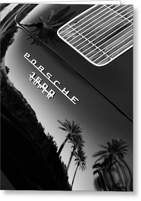 D Greeting Cards - 1959 Porsche 356 A 1600 Convertible D Rear Emblem Greeting Card by Jill Reger