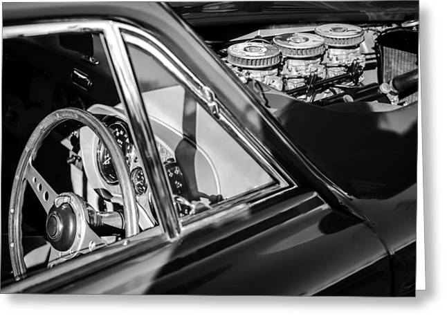 Bristol Greeting Cards - 1960 AC Aceca-Bristol Steering Wheel - Engine Greeting Card by Jill Reger