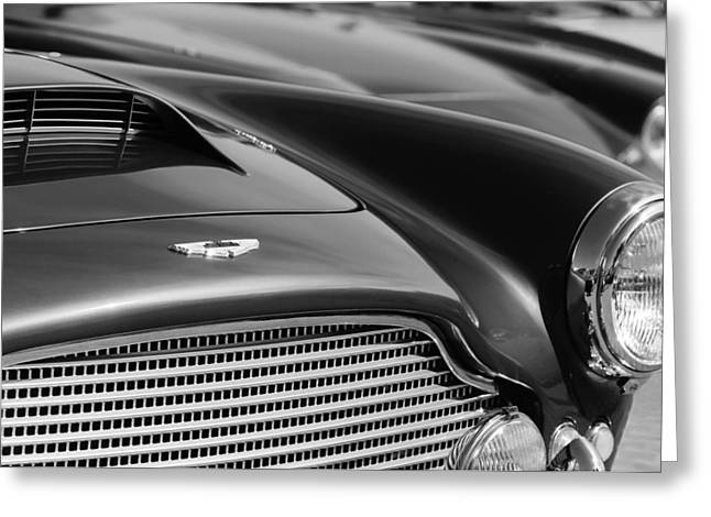1960 Greeting Cards - 1960 Aston Martin DB4 Series II Grille - Hood Emblem Greeting Card by Jill Reger