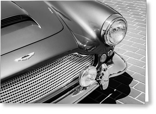 Transportation Greeting Cards - 1960 Aston Martin DB4 Series II Grille Greeting Card by Jill Reger
