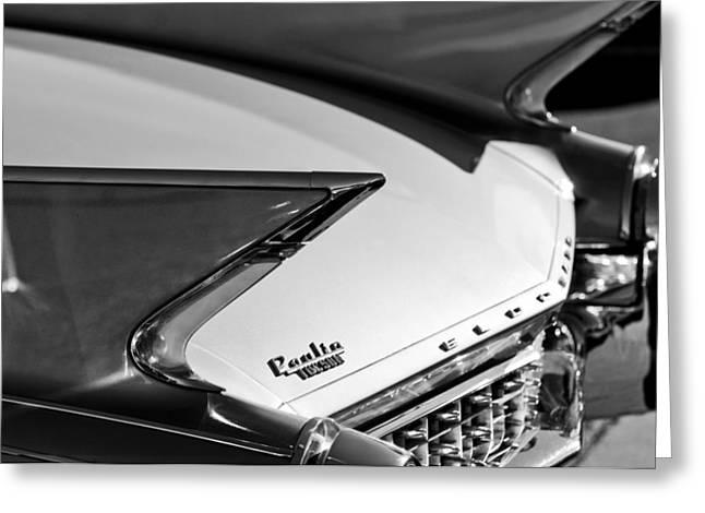 1960 Greeting Cards - 1960 Cadillac Eldorado Taillights Greeting Card by Jill Reger