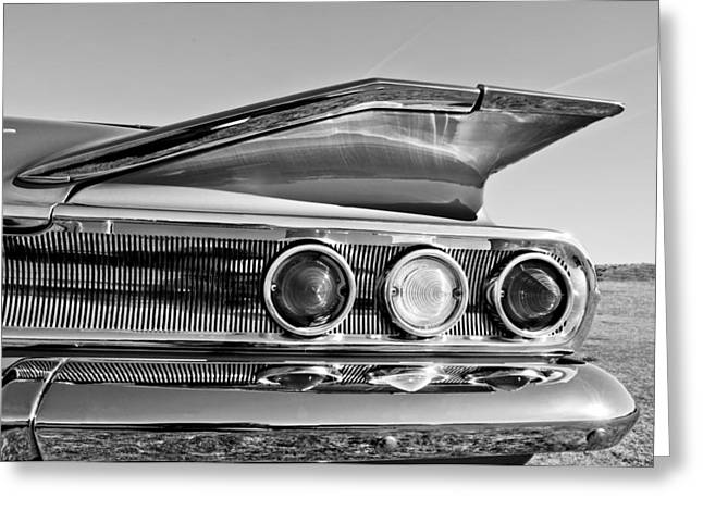 1960 Greeting Cards - 1960 Chevrolet Impala Resto Rod Taillight Greeting Card by Jill Reger