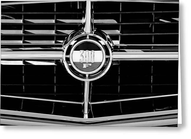1960 Greeting Cards - 1960 Chrysler 300 Grille Emblem Greeting Card by Jill Reger