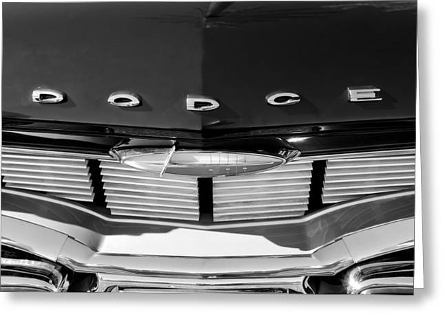 1960 Greeting Cards - 1960 Dodge Grille Emblem Greeting Card by Jill Reger