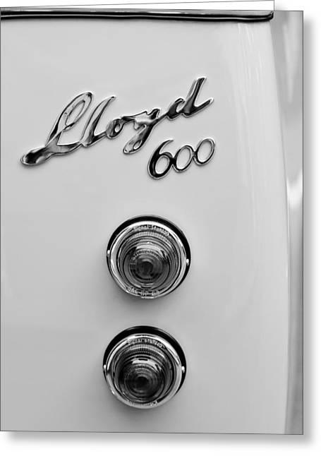 1960 Greeting Cards - 1960 Lloyd 600 Taillight Emblem Greeting Card by Jill Reger
