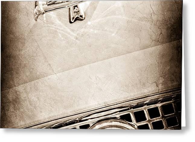 1960 Nash Metropolitan Hood Ornament - Grille Emblem Greeting Card by Jill Reger