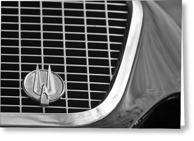 1960 Greeting Cards - 1960 Studebaker Hawk Grille Emblem Greeting Card by Jill Reger