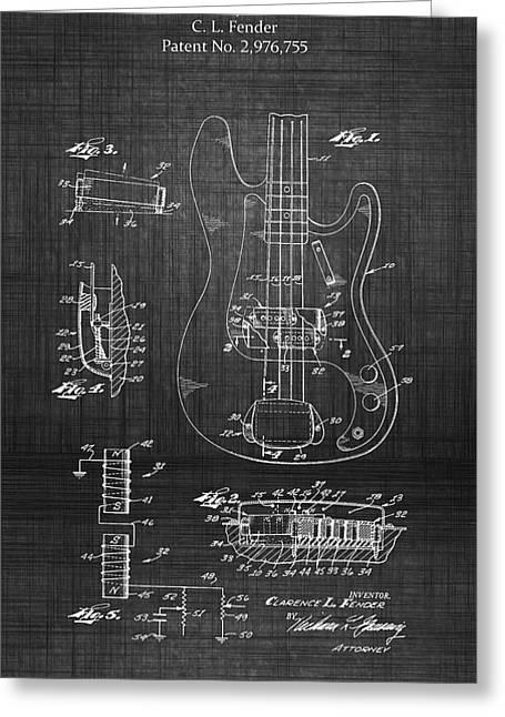 Lute Digital Greeting Cards - 1961 Fender Guitar Greeting Card by Michael Braham