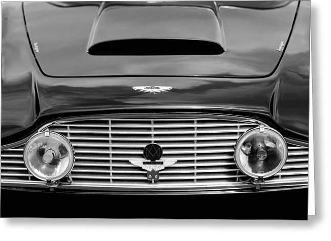 1963 Aston Martin DB4 Series V Vantage GT Grille Greeting Card by Jill Reger