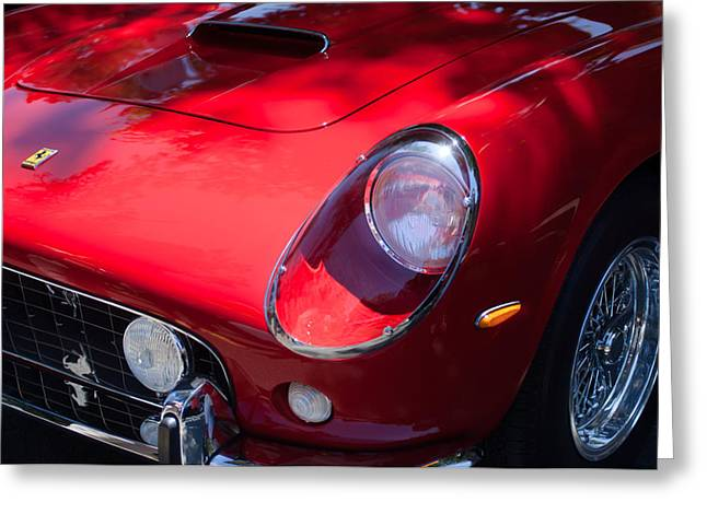 1963 Greeting Cards - 1963 Ferrari 250 GT SWB Greeting Card by Jill Reger