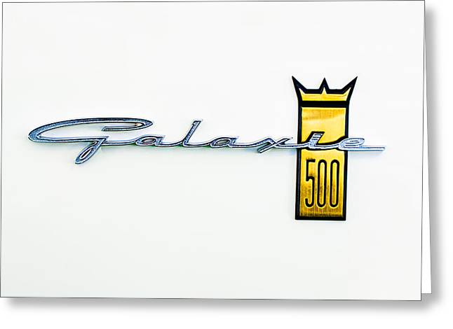 1963 Ford Greeting Cards - 1963 Ford Galaxie 500 R-Code Factory Lightweight Emblem Greeting Card by Jill Reger