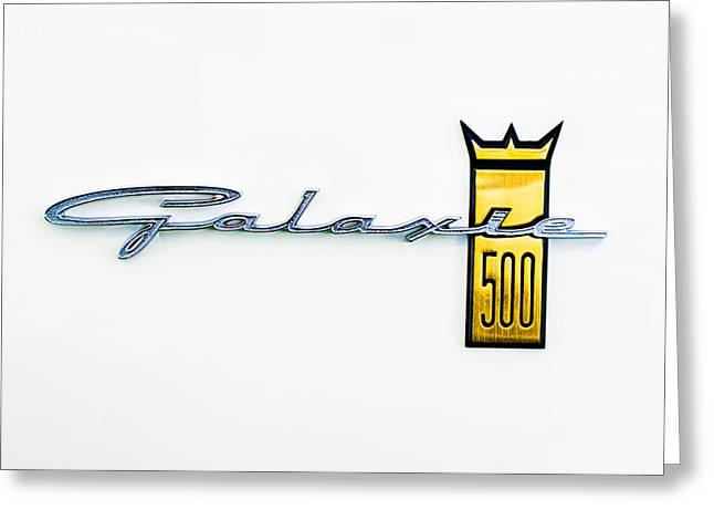 1963 Ford Galaxie 500 R-Code Factory Lightweight Emblem Greeting Card by Jill Reger