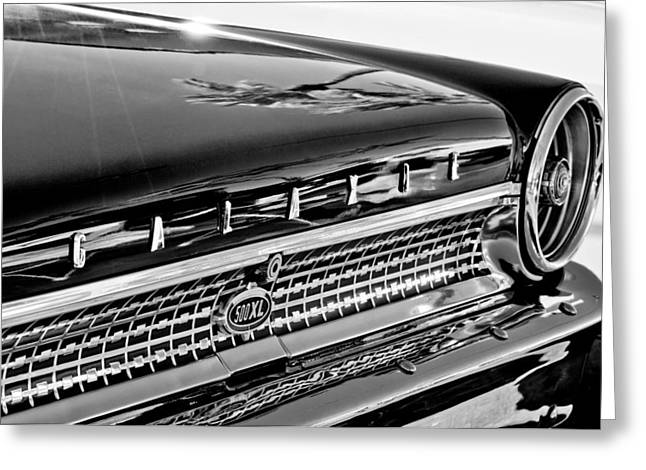 1963 Ford Greeting Cards - 1963 Ford Galaxie 500XL Taillight Emblem Greeting Card by Jill Reger