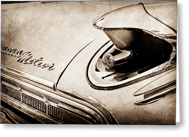 Meteor Greeting Cards - 1963 Mercury Meteor Taillight Emblem Greeting Card by Jill Reger