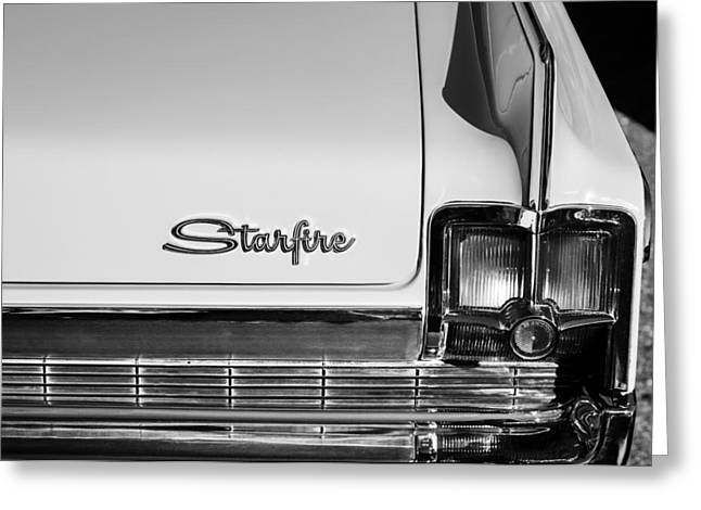 Starfire Photographs Greeting Cards - 1963 Oldsmobile Starfire Taillight Emblem Greeting Card by Jill Reger