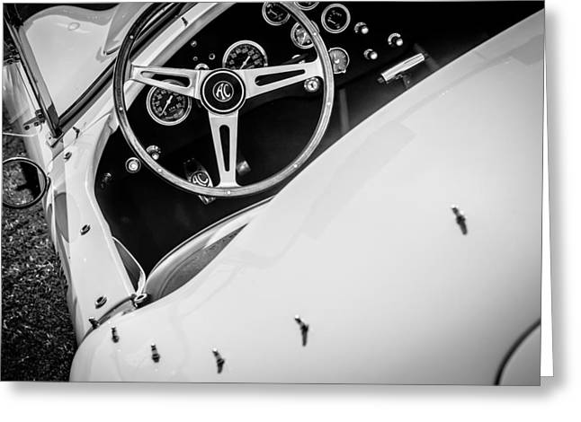 1964 Greeting Cards - 1964 Shelby Cobra 289 Steering Wheel Greeting Card by Jill Reger