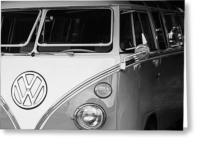 Transportation Greeting Cards - 1964 Volkswagen VW Samba 21 Window Bus Greeting Card by Jill Reger
