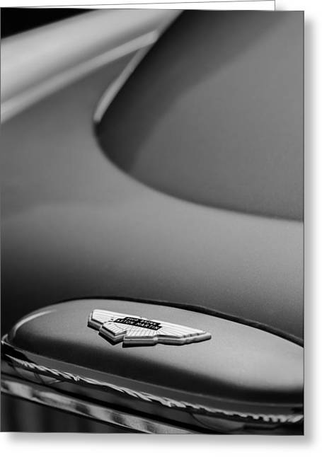 Saloons Greeting Cards - 1965 Aston Martin DB5 Sports Saloon Emblem Greeting Card by Jill Reger